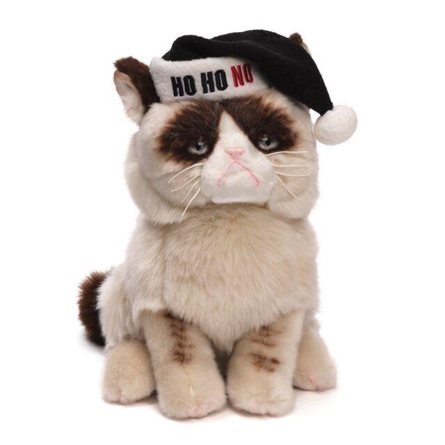 "GUND -   9"" GRUMPY CAT - HO HO NO SANTA HAT - WORST CHRISTMAS HOLIDAY - SALE"