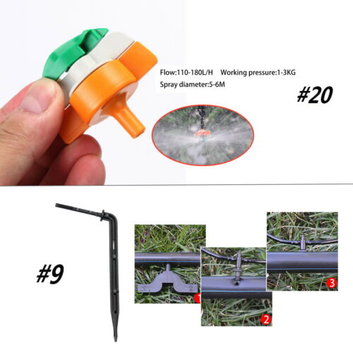 Garden Micro Irrigation System Farm//Yard Auto Watering 4//7mm Tube Pipe Fittings