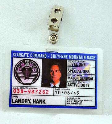 Stargate Kommando Sg-1 Id Badge-general Hank Landry Luftfahrt & Zeppelin