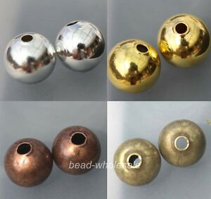 50-100pc-Top-Quality-Copper-Bead-Seamless-Ball-Spacer-Beads-6-8mm-Jewelry-Making