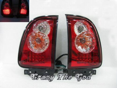 RAV 4 RAV4 98-02 LED Tail Light Red//Clear for Toyota