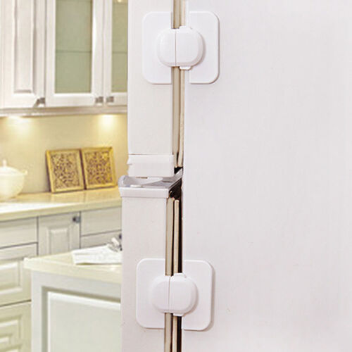 Refrigerator Fridge Freezer Door Lock Latch Catch for Toddler Child Safety KIUS