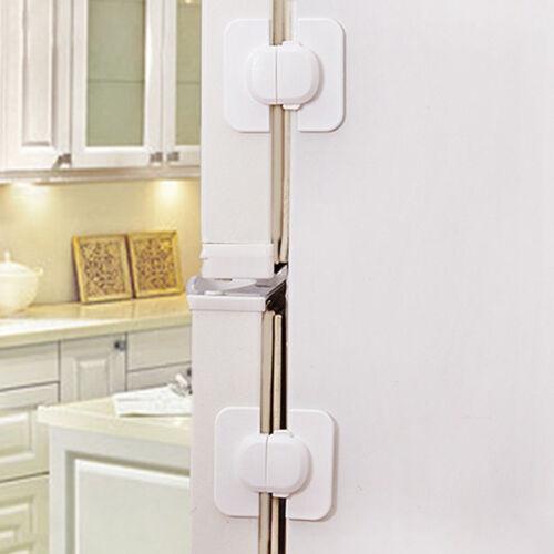 Refrigerator Fridge Freezer Door Lock Latch Catch for Toddler Child Safety KIUS
