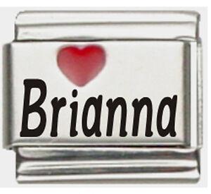 Breanna Light Blue Heart Laser Name Italian Charm Link
