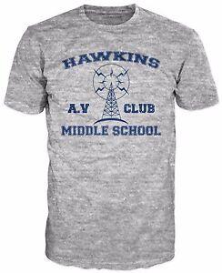 Hawkins Middle School Av Club T Shirt Inspired By Stranger Things
