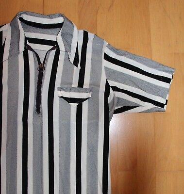 50s 60s Vintage Shirt * M-l * Rockabilly Beatnick Mod Camicia * 60er Anni-mostra Il Titolo Originale Originale Al 100%