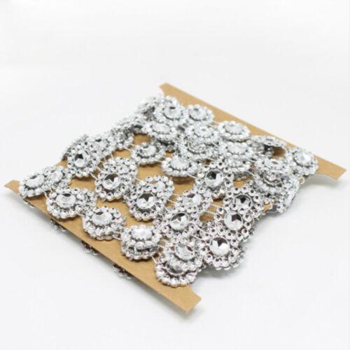 2Yd DIY Rhinestone Trims Crystal Chain Beaded Applique Sew Iron On Bridal \\