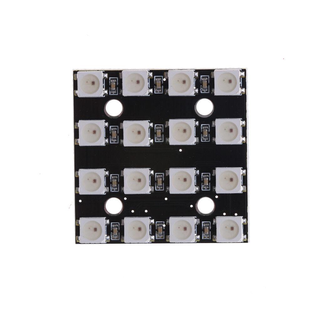 16 Bit RGB 4x4 LED WS2812B 5050 RGB LED Integrierte Treiber f/ür Arduino Wei/ß