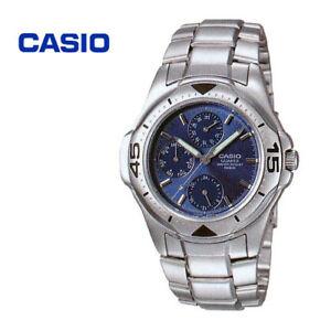 e8d3225d4 Casio MTD-1046A-2A Men's Stainless Steel Watch 100M WR Day Date ...