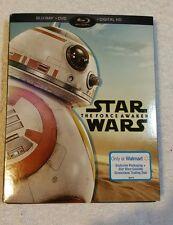 Star Wars: The Force Awakens (DVD, blue ray bonus disk 2016, 2-Disc Set.