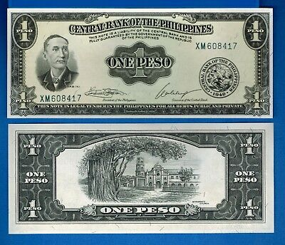 Philippines P-133 1 Peso Year ND Uncirculated Banknote