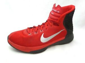 best service 2683a 263a7 Details about Nike Prime Hype DF 2016 Bright Red Black High Basketball  Shoes Sneakers Mens 9.5