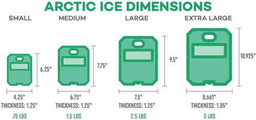 Arctic Ice Alaskan Series High Performance Ice Pack Large 2.5 LB 2-Pack