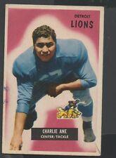 1955 Bowman Football Card #59 Charlie Ane-Detroit Lions