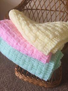 Knitting Pattern Easy Weave Baby Blanket Ebay