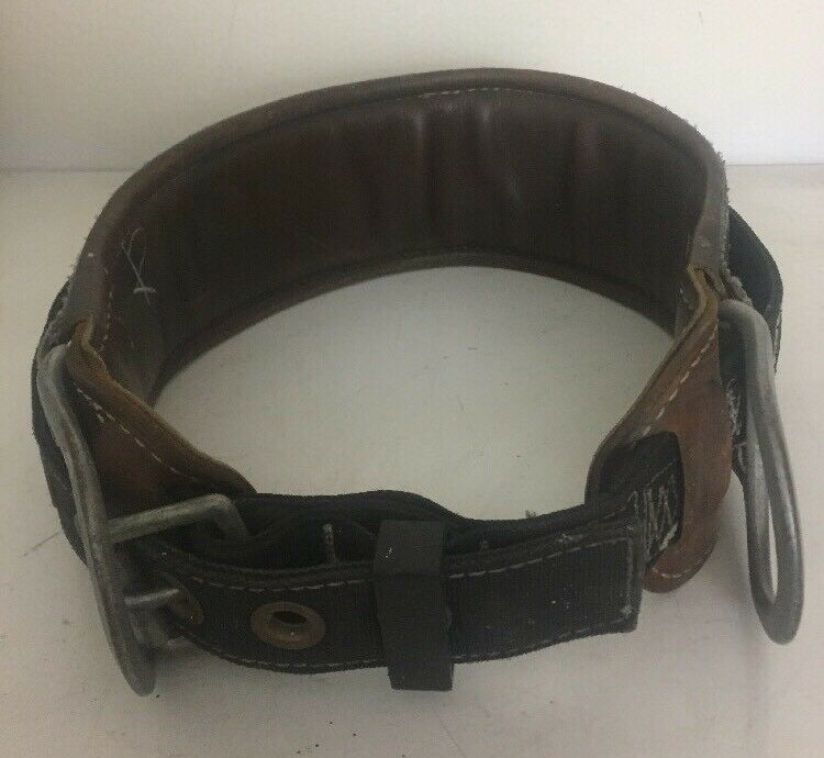 SafeWare Fall Predection Brown Leather Belt Made In USA