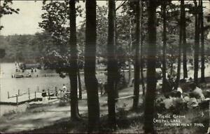 Averill-Park-NY-Cancel-1925-Picnic-Grove-Crystal-Lake-Amusement-Park-RPPC