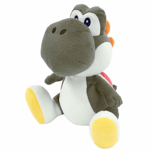 "REAL Little Buddy Super Mario All Star Collection 7/"" Black Yoshi Plush 1392"