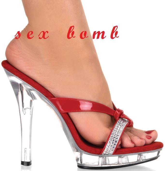 SEXY sabot SANDALI rosa/clear STRASS mini plateau tacco 13 n. fashion 38 fashion n. GLAMOUR d12934