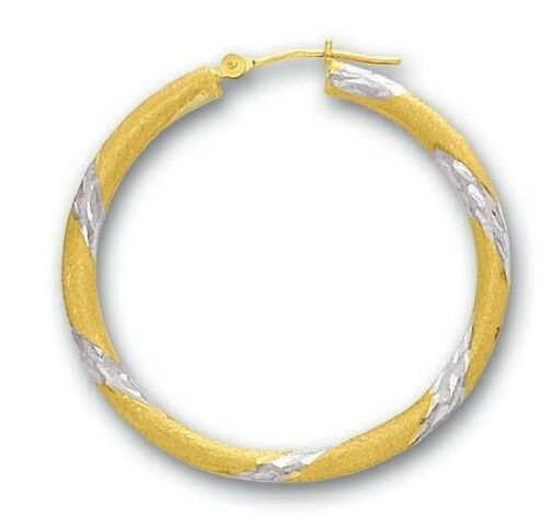 Jewelry Best Seller Leslies 10k White Gold Textured Hinged Hoop Earrings