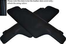 BLUE STITCH FITS PORSCHE 911 1969-1973 2X SUN VISORS LEATHER COVERS ONLY