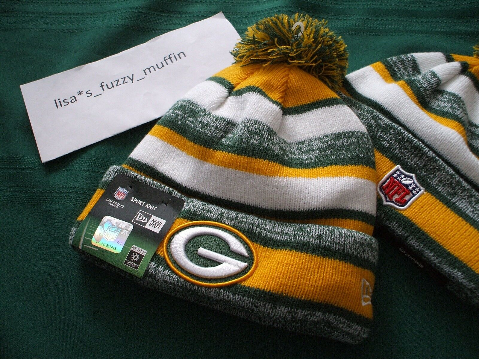bfa7c664 Green Bay Packers New Era knit pom hat beanie 2014-15 NFL OnField 100%  AUTHENTIC