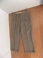 NEW Irvine Park Mens Wool Dress Pants Sz W 35 X 28.5 L Brown Slacks Pleated NWT