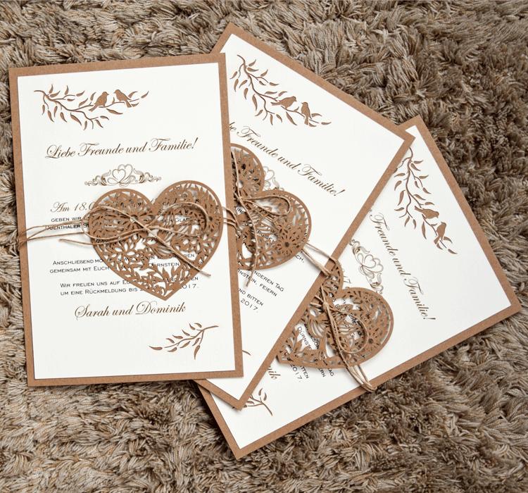 Schöne Hochzeitseinladungskarte HE078 HE078 HE078 &Umschlag - Hochzeitskarten Einladungen | Economy  | Günstigstes  | Praktisch Und Wirtschaftlich  27fd6a