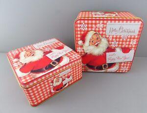 scatola latta confezione regalo biscotti caramelle babbo natale