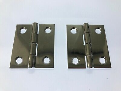 Marine Grade Stainless Steel Butt//Strap Hinges 2 pieces