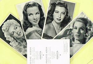 KWATTA-1940s-1950s-Film-Star-Postcard-Size-Cards-produced-in-Belgium-STYLE-1