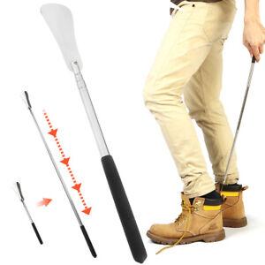 Professional-25-034-Long-Adjustable-Handle-Shoe-Horn-Stainless-Steel-Metal-Shoehorn