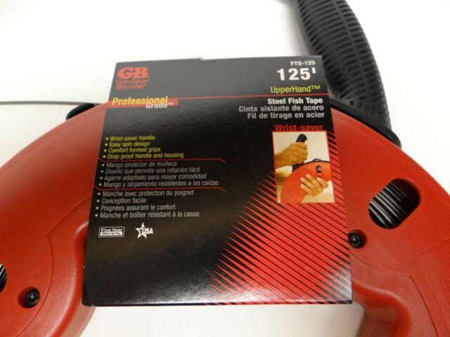 Gardner Bender Fts-125r Upperhand Fish Tape 1//8 in Width 125 FT Reel Carbon Steel for sale online