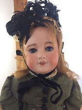 """Antique French Doll UNIS FRANCE 301 10 Bisque Head Composition Body 24"""""""