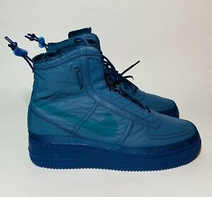 Details about NIKE AIR FORCE 1 SHELL MIDNIGHT TURQUOISE TEAL BOOT BQ6096 300 WOMENS SIZE 9