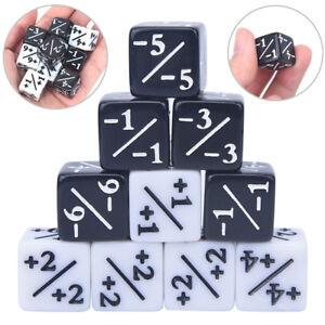 10x-Contadores-de-Dados-5-Positivo-1-1-y-5-Negativo-1-1-Juego-de-mesa
