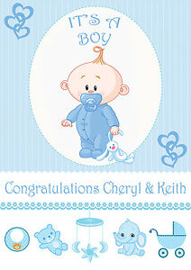 its a boy baby boy birth banner congratulations its a baby boy