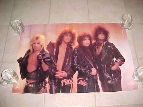 Original Poster MOTLEY CRUE Leather Fan Club 1987 RossHalfin Funky Entertainment