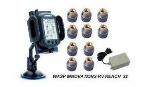 RV-TPMS-Tire-Pressure-Monitoring-System-Motorhome-amp-Tow-for-10-wheels-Booster