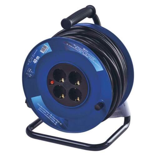 3x2,5mm² Überspannungsschutz Verlängerungskabel Kabel 40m Kabeltrommel Quersch