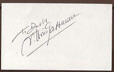Vittorio Gassman Signed Index Card Signature Vintage Autographed AUTO