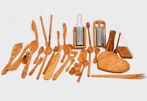 olive wood cooking utensils handmade wooden kitchen accessories rh ebay com