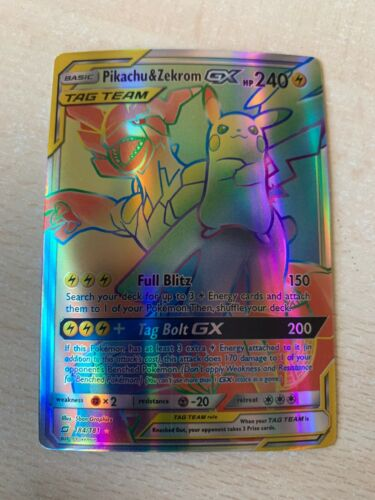 Pikachu /& Zekrom GX Tag Team Team Up ENG Full Art FA Hyper Rare NM OriCa