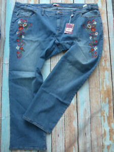 Joe-Browns-Jeans-Trousers-with-Floral-Pattern-Ladies-Size-58-227-Oversize