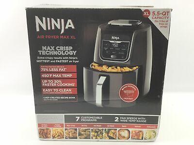 Ninja Af161 Air Fryer Max Xl 5 5 Quart Max Crisp Fry Roast Bake