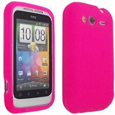 Silicone Skin Case for HTC Wildfire S - Hot Pink
