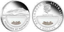 TREASURES OF AUSTRALIA DIAMONDS 1OZ SILVER PROOF COIN 2009
