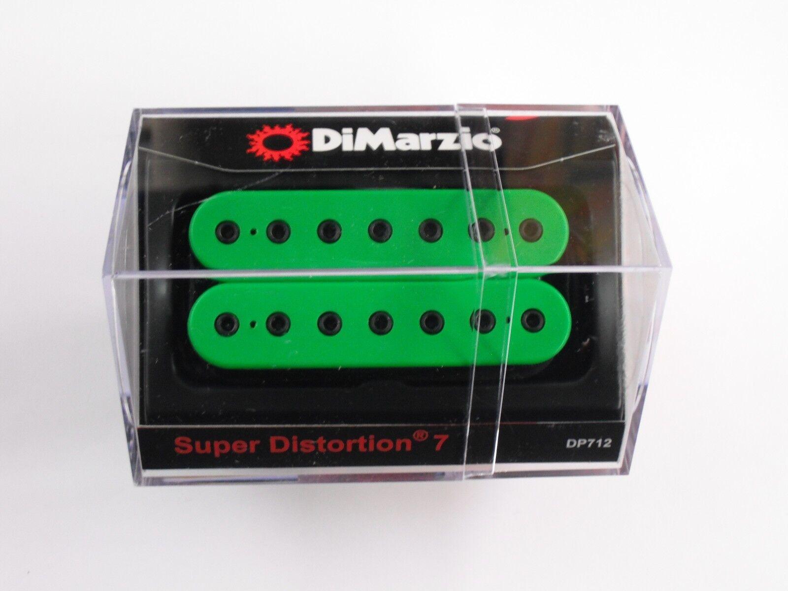 DiMarzio Super Distortion 7 Cuerdas Puente Puente Puente Humbucker verde con postes DP Negro 712 9b2f8f