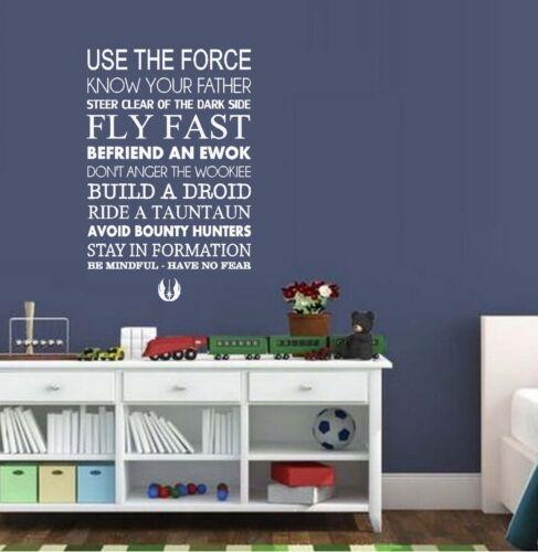 TV Utiliser la Force ~ STAR WARS ~ applique murale films et musique