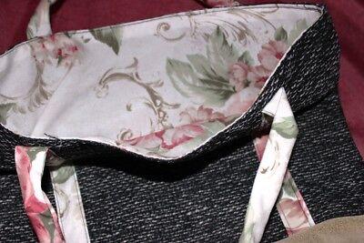 Einkauftasche Tasche Handarbeit sehr aufwendig hergestellt Unikat 42 x 36cm G 66
